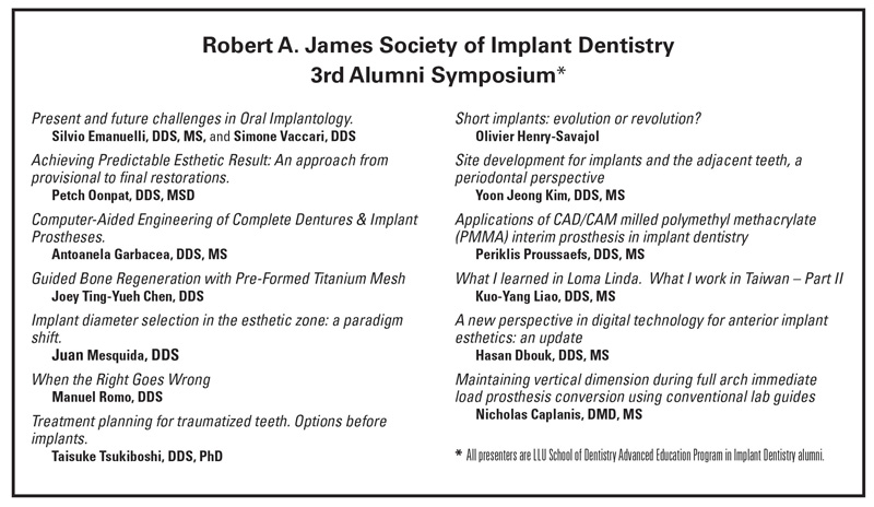 40th anniversary implant alumni presenters