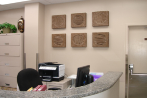 Graduate Prosthodontics Clinic reception desk