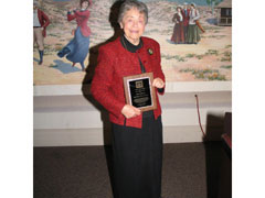 Arlene J. Klooster, DH '71 accepts the Alumna of the Year award at the 45th ASC Dental Hygiene Luncheon on Friday, February 11, 2005.