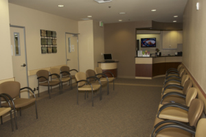 Graduate orthodontic clinic waiting room