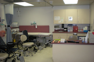 Recovery room in the KSCDC