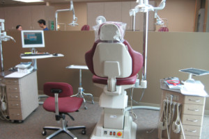 Operatory inside the J. Milford Anholm Graduate Orthodontic Clinic
